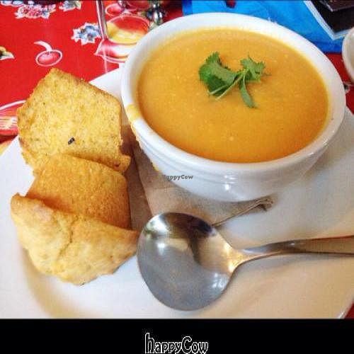 "Photo of Rebar Modern Foods  by <a href=""/members/profile/NeilGaudet"">NeilGaudet</a> <br/>carrot cashew soup <br/> February 22, 2013  - <a href='/contact/abuse/image/1282/44551'>Report</a>"