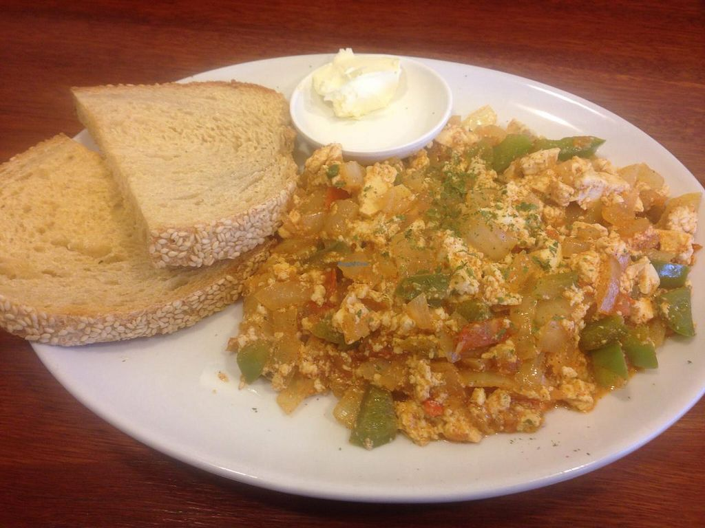 "Photo of Himalaya Bakery and Cafe  by <a href=""/members/profile/Tiggy"">Tiggy</a> <br/>Spanish scrambled tofu - May 2015 <br/> May 8, 2015  - <a href='/contact/abuse/image/12852/101678'>Report</a>"