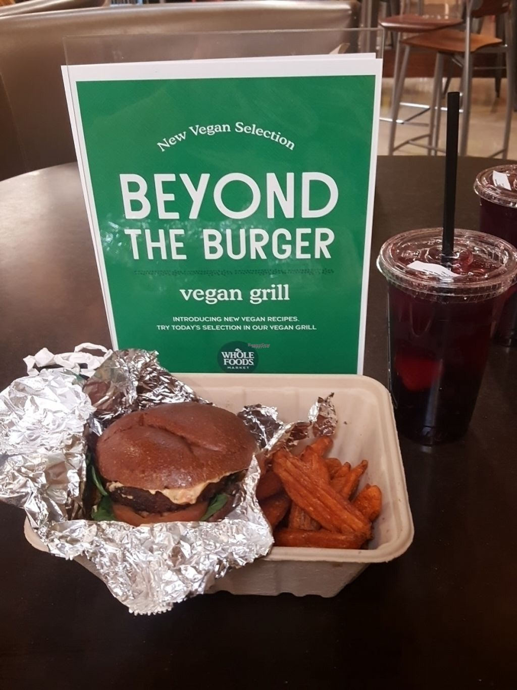 """Photo of Whole Foods Market  by <a href=""""/members/profile/VegManda"""">VegManda</a> <br/>The Beyond Burger from the Grill  <br/> April 23, 2017  - <a href='/contact/abuse/image/12896/251351'>Report</a>"""