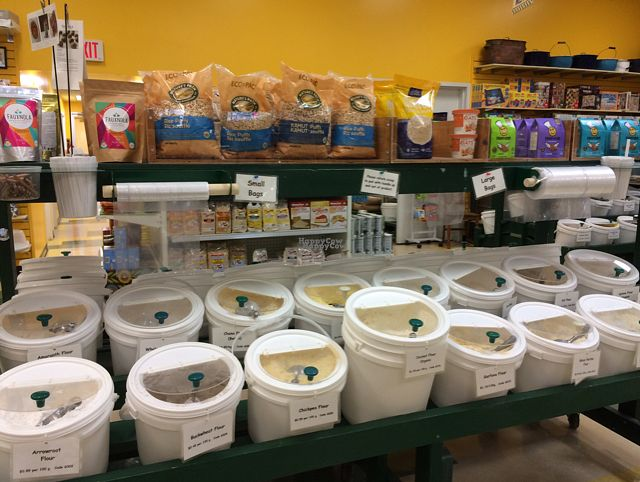 "Photo of Scoop 'n Weigh Bulk Foods  by <a href=""/members/profile/PrairieEarth1"">PrairieEarth1</a> <br/>A veritable bouquet of flours! <br/> August 31, 2016  - <a href='/contact/abuse/image/1292/172747'>Report</a>"