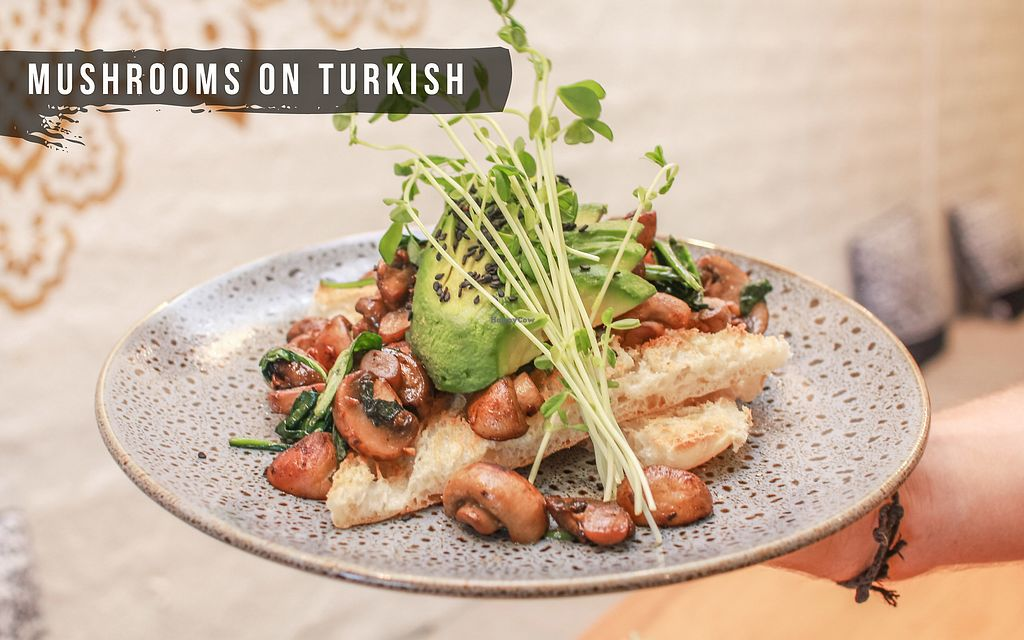 """Photo of Perfect Break Vegetarian Cafe  by <a href=""""/members/profile/KentLadkin"""">KentLadkin</a> <br/>Mushies on Turkish Bread <br/> March 7, 2018  - <a href='/contact/abuse/image/12930/367563'>Report</a>"""