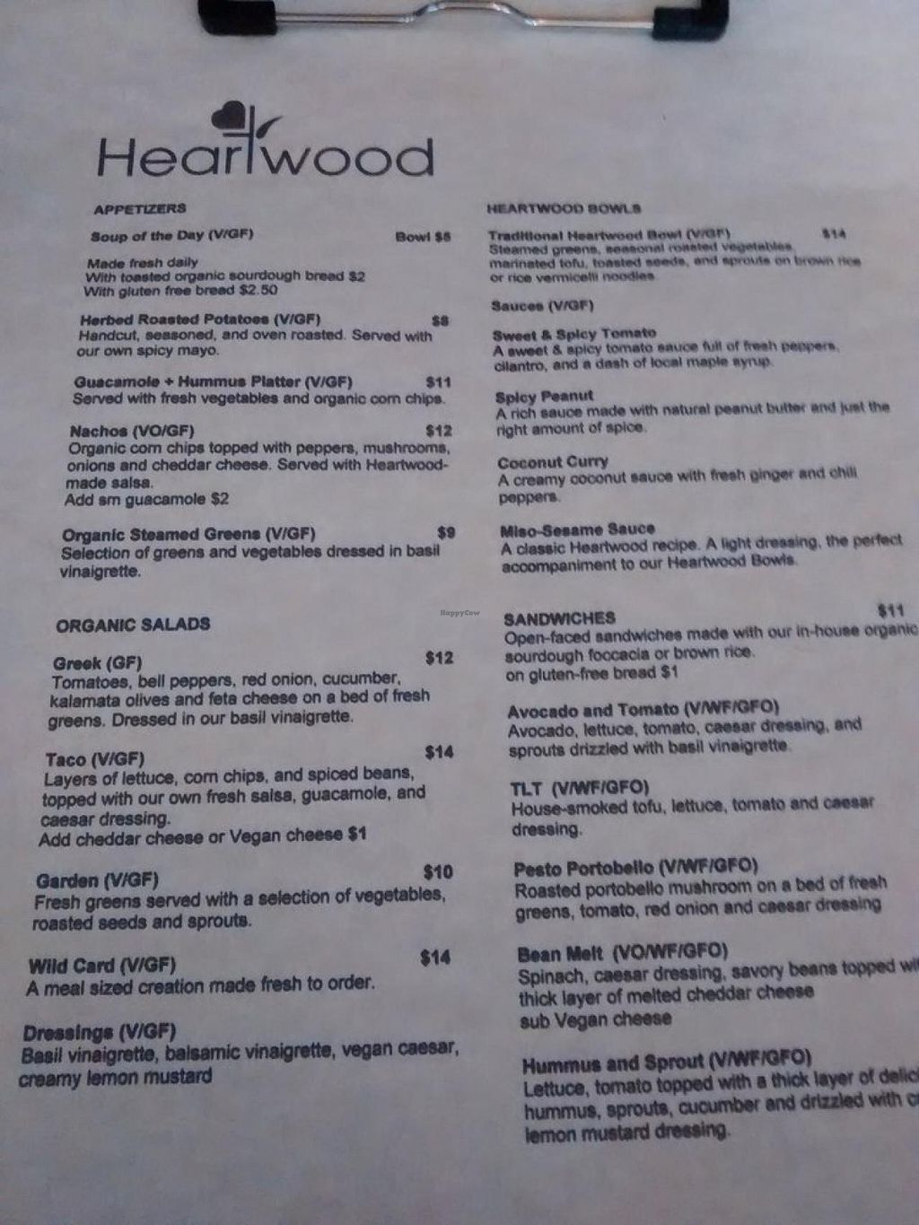 """Photo of Heartwood Bakery & Cafe - Quinpool Rd  by <a href=""""/members/profile/QuothTheRaven"""">QuothTheRaven</a> <br/>Menu 2 <br/> July 24, 2015  - <a href='/contact/abuse/image/1294/110812'>Report</a>"""