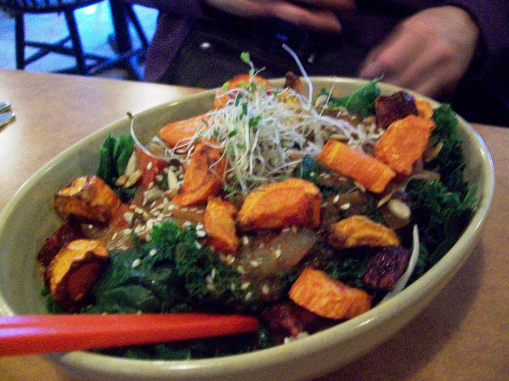 Photo of Heartwood Bakery & Cafe - Quinpool Rd  by Eco Cay <br/>Organic quinoa bowl! Yummy!! Fairly large portion for one person as well.  <br/> May 2, 2014  - <a href='/contact/abuse/image/1294/69175'>Report</a>