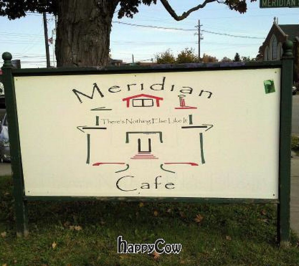 """Photo of CLOSED: Meridian Cafe  by <a href=""""/members/profile/happycowgirl"""">happycowgirl</a> <br/>sign out front <br/> October 23, 2012  - <a href='/contact/abuse/image/13016/200783'>Report</a>"""