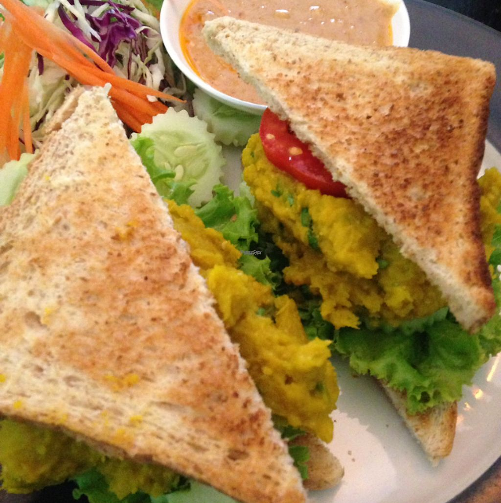 """Photo of May Kaidee's Vegetarian Restaurant  by <a href=""""/members/profile/Annab"""">Annab</a> <br/>pumpkin hummus sandwich  <br/> December 16, 2016  - <a href='/contact/abuse/image/13082/201796'>Report</a>"""