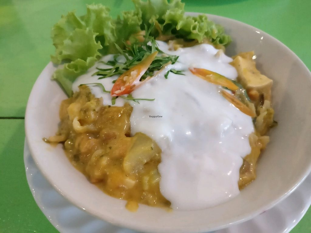 """Photo of May Kaidee's Vegetarian Restaurant  by <a href=""""/members/profile/cdnvegan"""">cdnvegan</a> <br/>Thick thai curry <br/> February 9, 2018  - <a href='/contact/abuse/image/13082/356619'>Report</a>"""