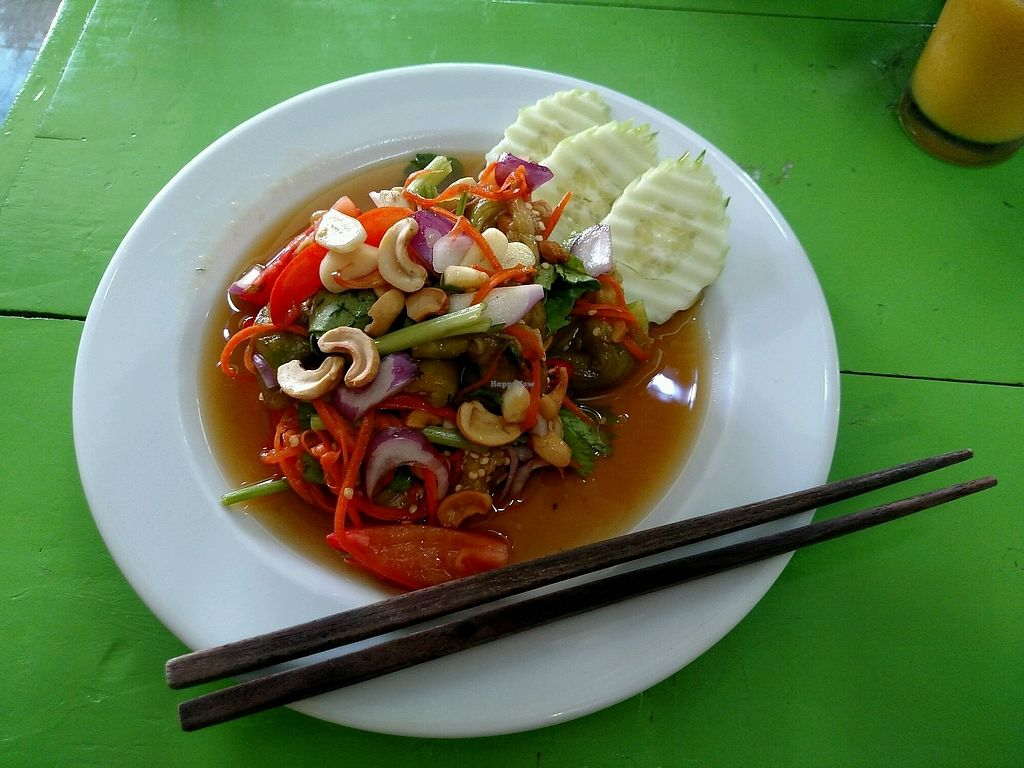 """Photo of May Kaidee's Vegetarian Restaurant  by <a href=""""/members/profile/MisoNomad"""">MisoNomad</a> <br/>aubergenie salad <br/> March 5, 2018  - <a href='/contact/abuse/image/13082/367008'>Report</a>"""