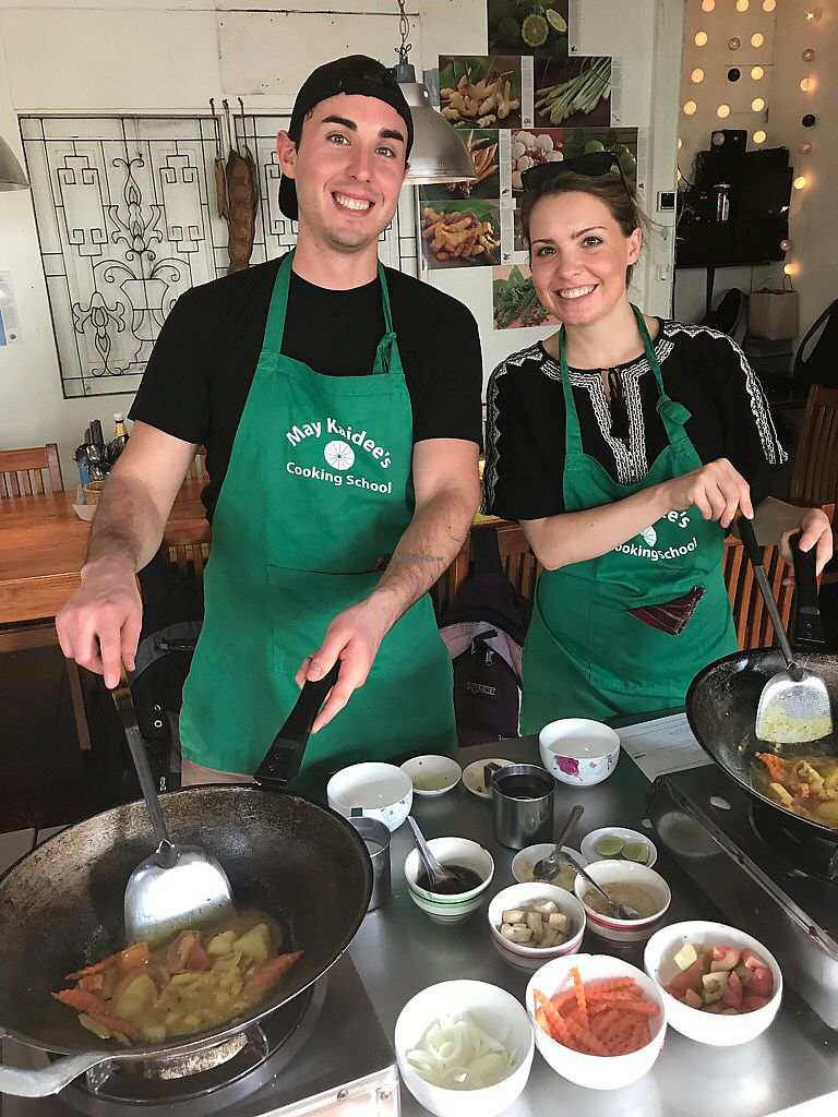 """Photo of May Kaidee's Vegetarian Restaurant  by <a href=""""/members/profile/Stephaneen"""">Stephaneen</a> <br/>Cooking class <br/> March 26, 2018  - <a href='/contact/abuse/image/13082/376592'>Report</a>"""