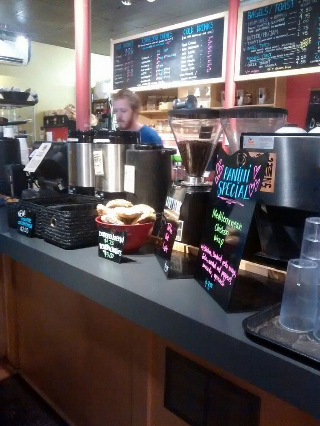 """Photo of Coburg Cafe  by <a href=""""/members/profile/QuothTheRaven"""">QuothTheRaven</a> <br/>Counter, vegan cookies.  <br/> October 2, 2015  - <a href='/contact/abuse/image/13089/119851'>Report</a>"""