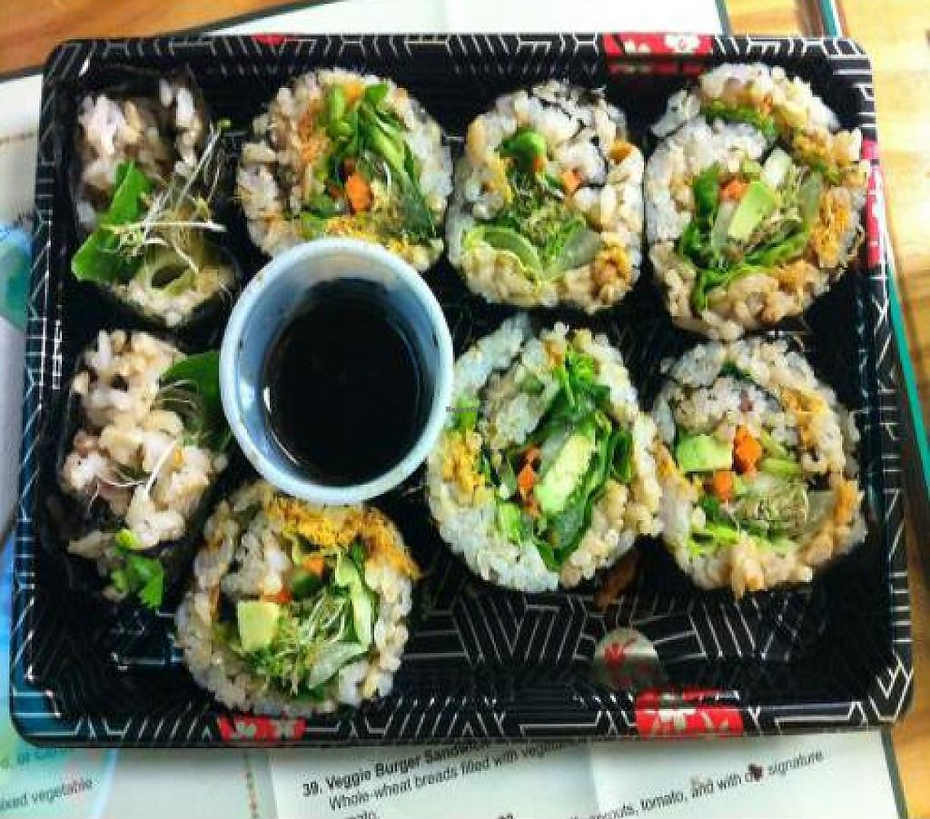 """Photo of Natural Way Cafe  by <a href=""""/members/profile/AshleyxMichelle"""">AshleyxMichelle</a> <br/>Rice Vegetable Sushi Roll w/out red pepper - Natural Way Cafe <br/> January 17, 2012  - <a href='/contact/abuse/image/13140/219180'>Report</a>"""