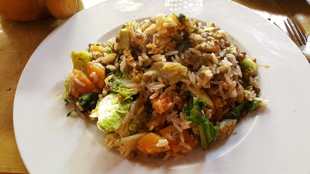 "Photo of Earth Cafe Marrakech  by <a href=""/members/profile/SusanElizondo"">SusanElizondo</a> <br/>seasonal vegetables with rice  <br/> April 8, 2018  - <a href='/contact/abuse/image/13178/382508'>Report</a>"