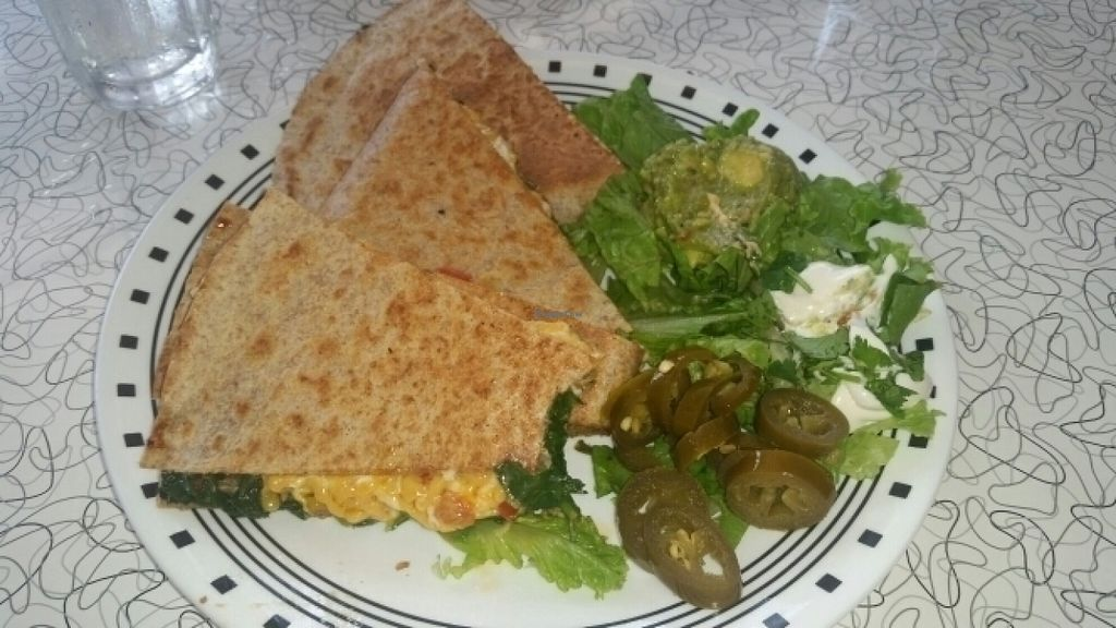 """Photo of Spiral Diner and Bakery  by <a href=""""/members/profile/Wilmarie.g.g"""">Wilmarie.g.g</a> <br/>Spinach Quesadilla <br/> July 30, 2016  - <a href='/contact/abuse/image/13232/163249'>Report</a>"""