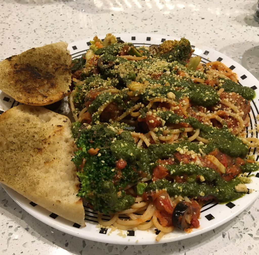 """Photo of Spiral Diner and Bakery  by <a href=""""/members/profile/IdoGrinberg"""">IdoGrinberg</a> <br/>pasta puttanesca with meatballs <br/> January 26, 2017  - <a href='/contact/abuse/image/13232/216896'>Report</a>"""