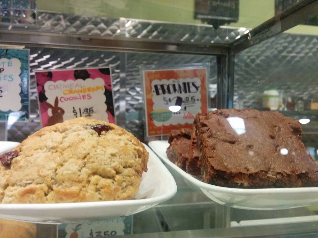 """Photo of Spiral Diner and Bakery  by <a href=""""/members/profile/MizzB"""">MizzB</a> <br/>Delightfully moist & tasty oatmeal cranberry cookies, brownies <br/> July 6, 2017  - <a href='/contact/abuse/image/13232/277315'>Report</a>"""