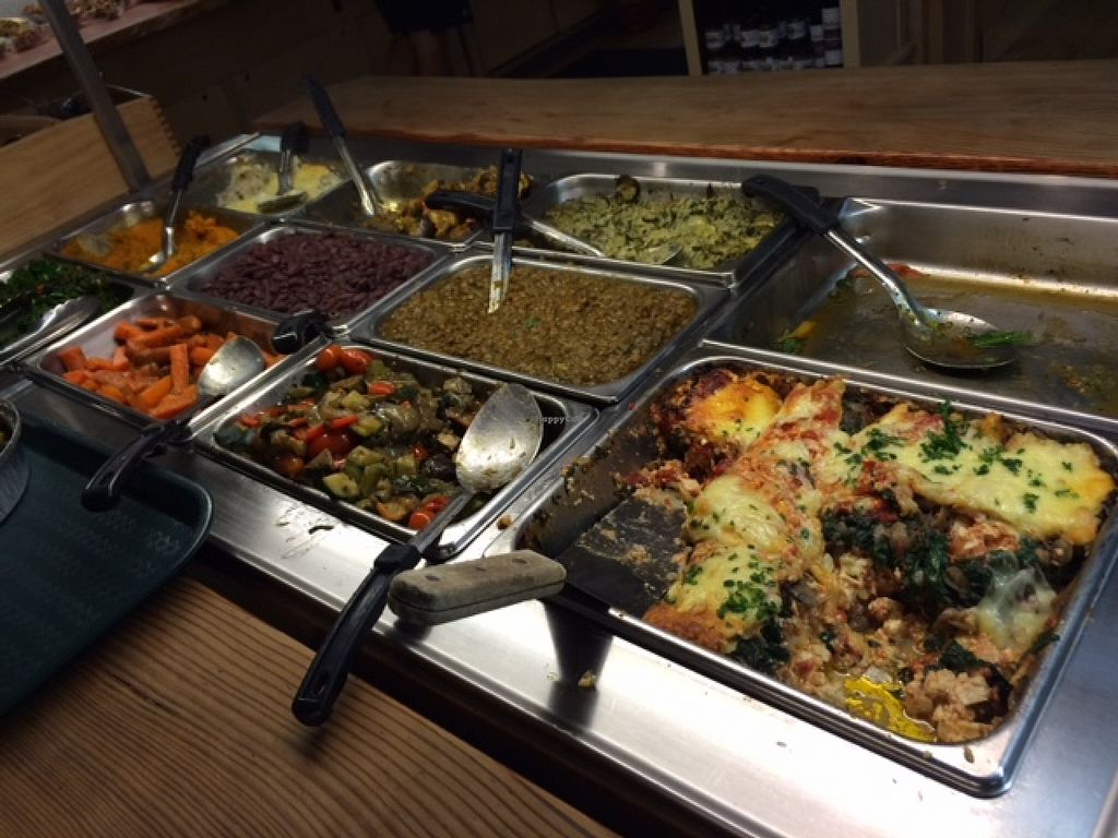 """Photo of The Green Door  by <a href=""""/members/profile/VeganVegasGirl"""">VeganVegasGirl</a> <br/>Food buffet <br/> January 2, 2016  - <a href='/contact/abuse/image/1326/130802'>Report</a>"""