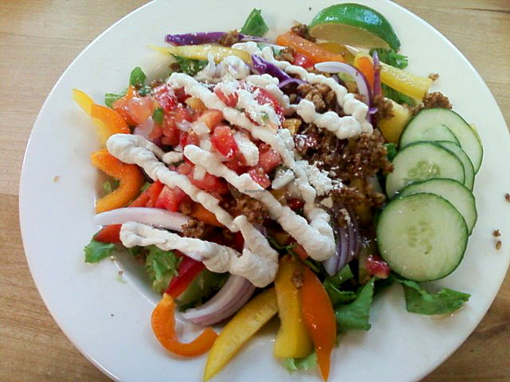 """Photo of Food and Thought  by <a href=""""/members/profile/mshelene"""">mshelene</a> <br/>The cafe offers a different """"Raw Meal of the day"""" every day. Here's their Raw Vegan Taco Salad they had one day <br/> July 26, 2016  - <a href='/contact/abuse/image/13329/162480'>Report</a>"""