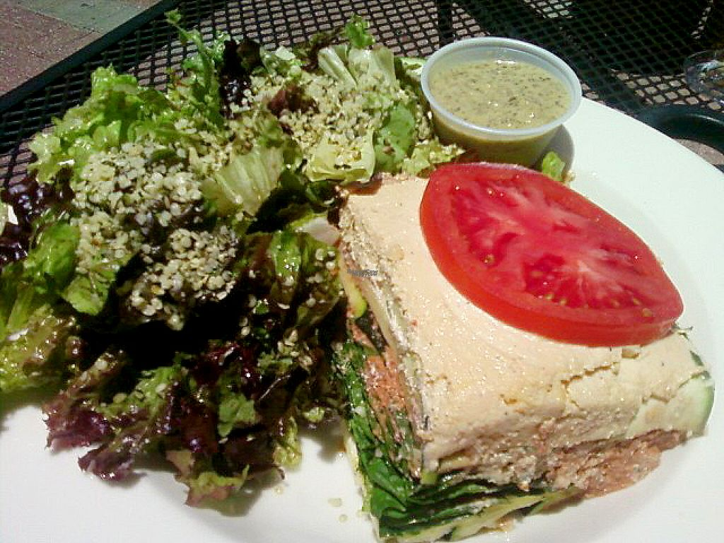 """Photo of Food and Thought  by <a href=""""/members/profile/mshelene"""">mshelene</a> <br/>Raw vegan meal of the day: Raw vegan spinach lasagna with caesar salad <br/> April 12, 2017  - <a href='/contact/abuse/image/13329/247304'>Report</a>"""
