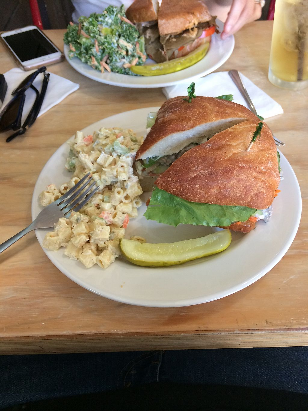 """Photo of Sweetpea Baking Company  by <a href=""""/members/profile/giant%20bunnie"""">giant bunnie</a> <br/>Chink salad w/ macaroni salad  <br/> September 28, 2017  - <a href='/contact/abuse/image/13334/309245'>Report</a>"""