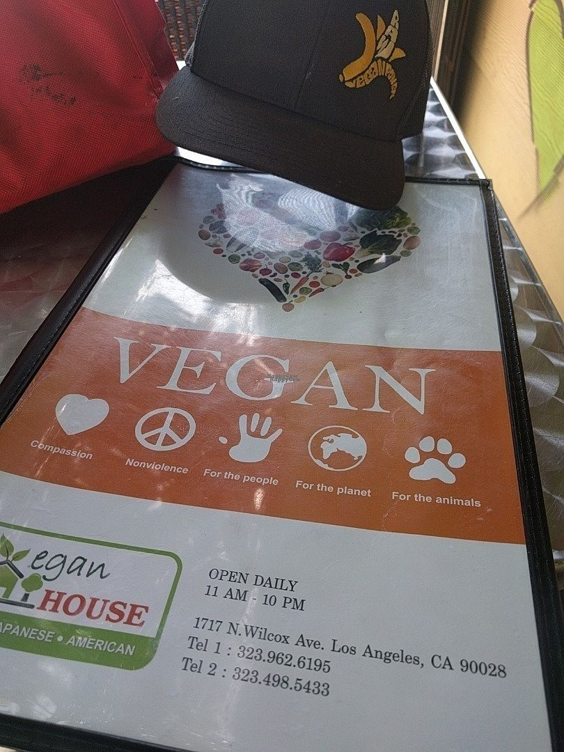 """Photo of CLOSED: The Vegan House  by <a href=""""/members/profile/MatthewVBogusz"""">MatthewVBogusz</a> <br/>front of menu <br/> October 4, 2016  - <a href='/contact/abuse/image/13377/179743'>Report</a>"""
