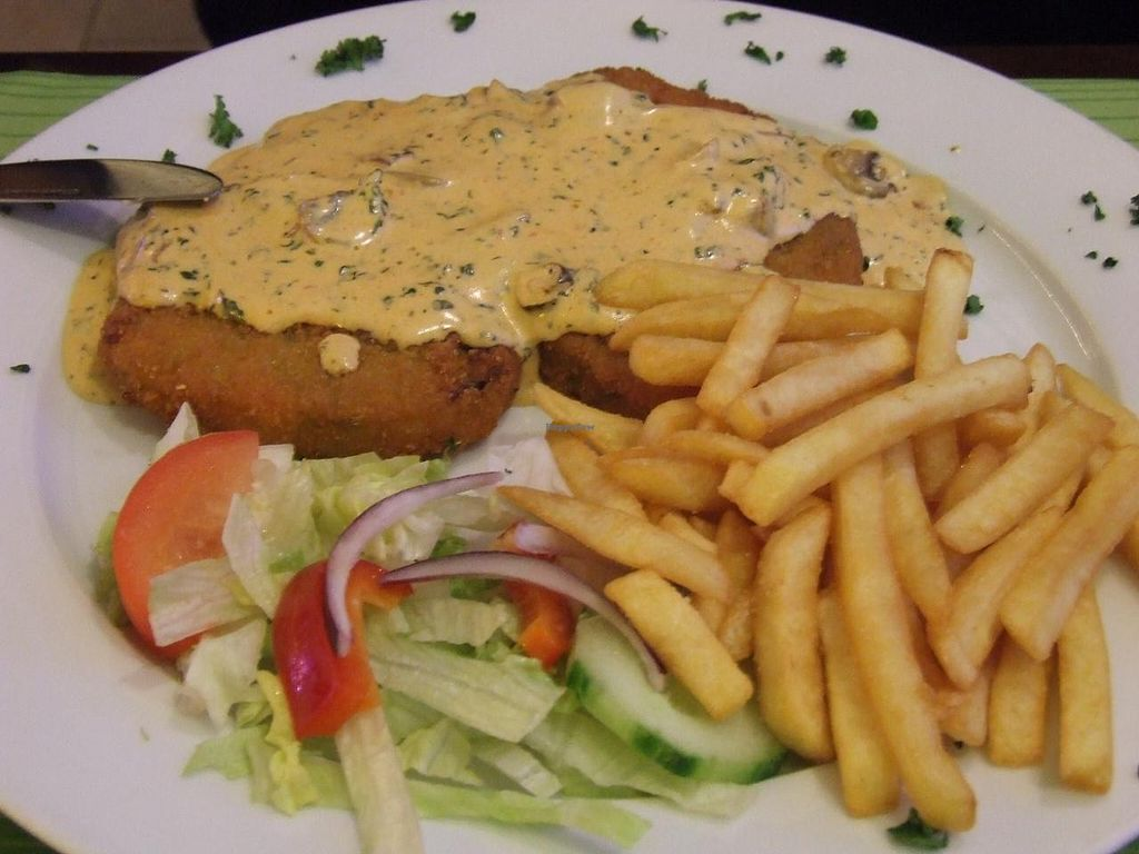 """Photo of Veggie House  by <a href=""""/members/profile/v_mdj"""">v_mdj</a> <br/>Vegetable (vegan) schnitzel <br/> March 15, 2014  - <a href='/contact/abuse/image/13482/65923'>Report</a>"""