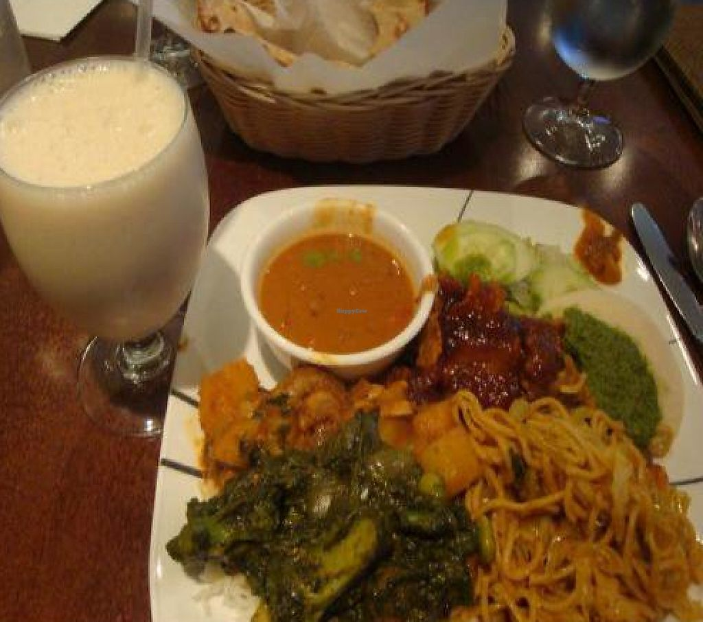 "Photo of Mint Indian Bistro  by <a href=""/members/profile/Sonja%20and%20Dirk"">Sonja and Dirk</a> <br/>lunch buffet with vegan lychee lassi <br/> October 26, 2011  - <a href='/contact/abuse/image/13523/188474'>Report</a>"