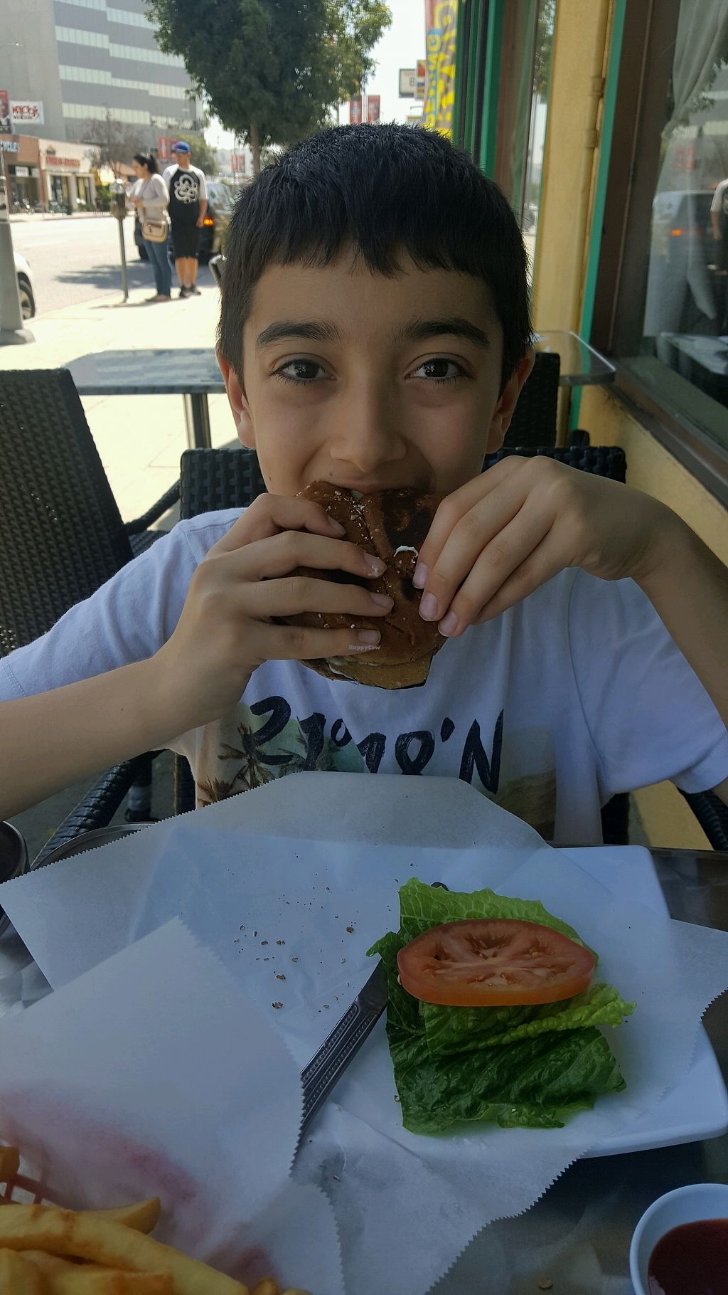 """Photo of Lotus Vegan  by <a href=""""/members/profile/SetaYanikian"""">SetaYanikian</a> <br/>Fish burger <br/> March 31, 2018  - <a href='/contact/abuse/image/13563/378537'>Report</a>"""