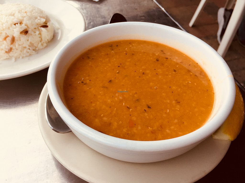 """Photo of Istanbul Restaurant  by <a href=""""/members/profile/plantbaseddfw"""">plantbaseddfw</a> <br/>Red lentil soup <br/> February 2, 2018  - <a href='/contact/abuse/image/13600/354127'>Report</a>"""