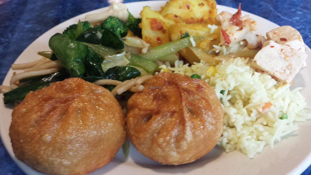 Photo of Cafe Shambala  by Navegante <br/>Vegan food from lunch buffet, Nov 2014 <br/> November 25, 2014  - <a href='/contact/abuse/image/13606/86433'>Report</a>