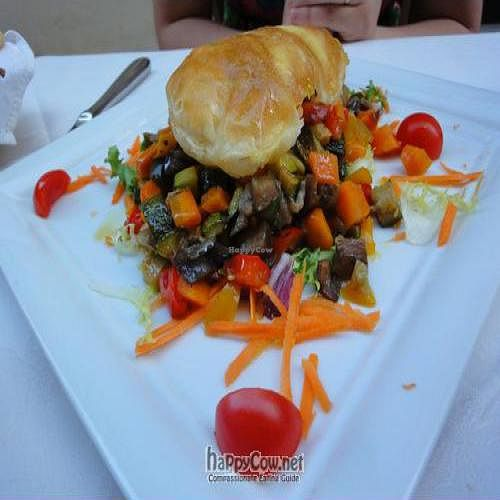 """Photo of Osteria Giorgione  by <a href=""""/members/profile/Jamila10ten"""">Jamila10ten</a> <br/>veggies w/ puff pastry-type thing <br/> June 29, 2011  - <a href='/contact/abuse/image/13625/9469'>Report</a>"""
