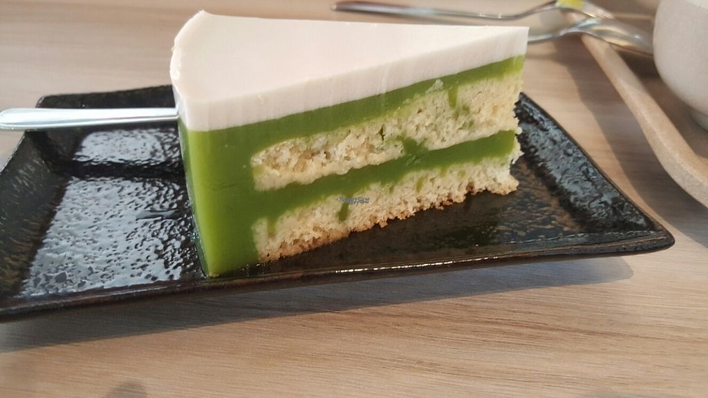 Photo of Roots Organic & Wholesome Cafe  by Raphael_Dane <br/>Pandan Layered Cake <br/> October 23, 2016  - <a href='/contact/abuse/image/13638/183872'>Report</a>