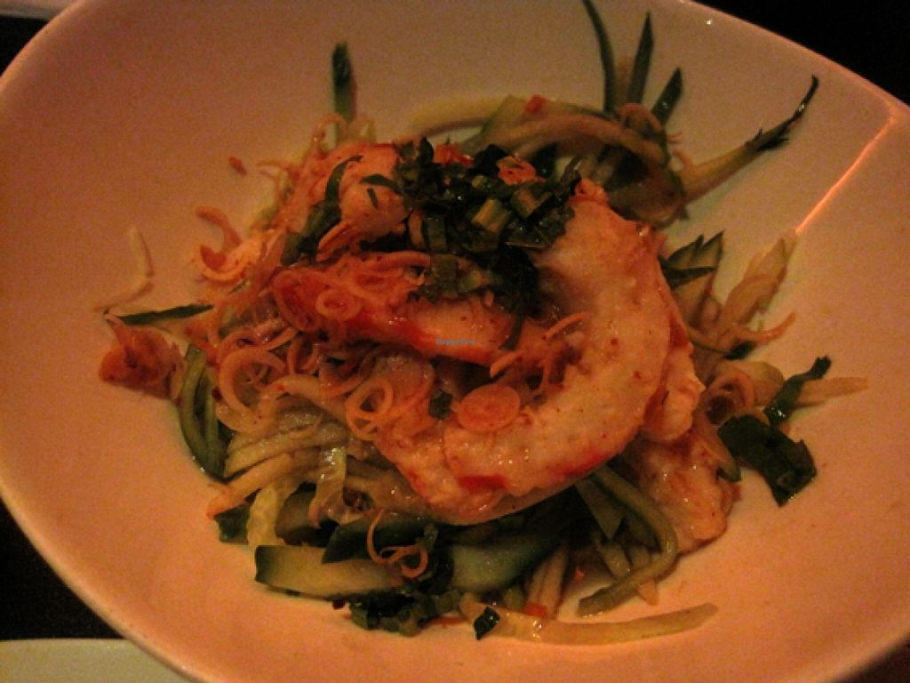 "Photo of ChuChai  by <a href=""/members/profile/Babette"">Babette</a> <br/>Pa Koung: salad with vegan shrimps, lemon grass and sweet chili. Not the most exciting dish at ChuChai <br/> February 29, 2016  - <a href='/contact/abuse/image/1370/138256'>Report</a>"