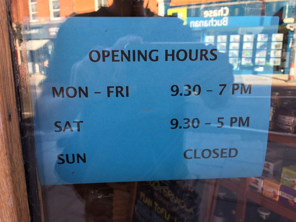 """Photo of Gaia Wholefoods  by <a href=""""/members/profile/Jrosworld"""">Jrosworld</a> <br/>Opening hours <br/> August 9, 2015  - <a href='/contact/abuse/image/13720/112924'>Report</a>"""