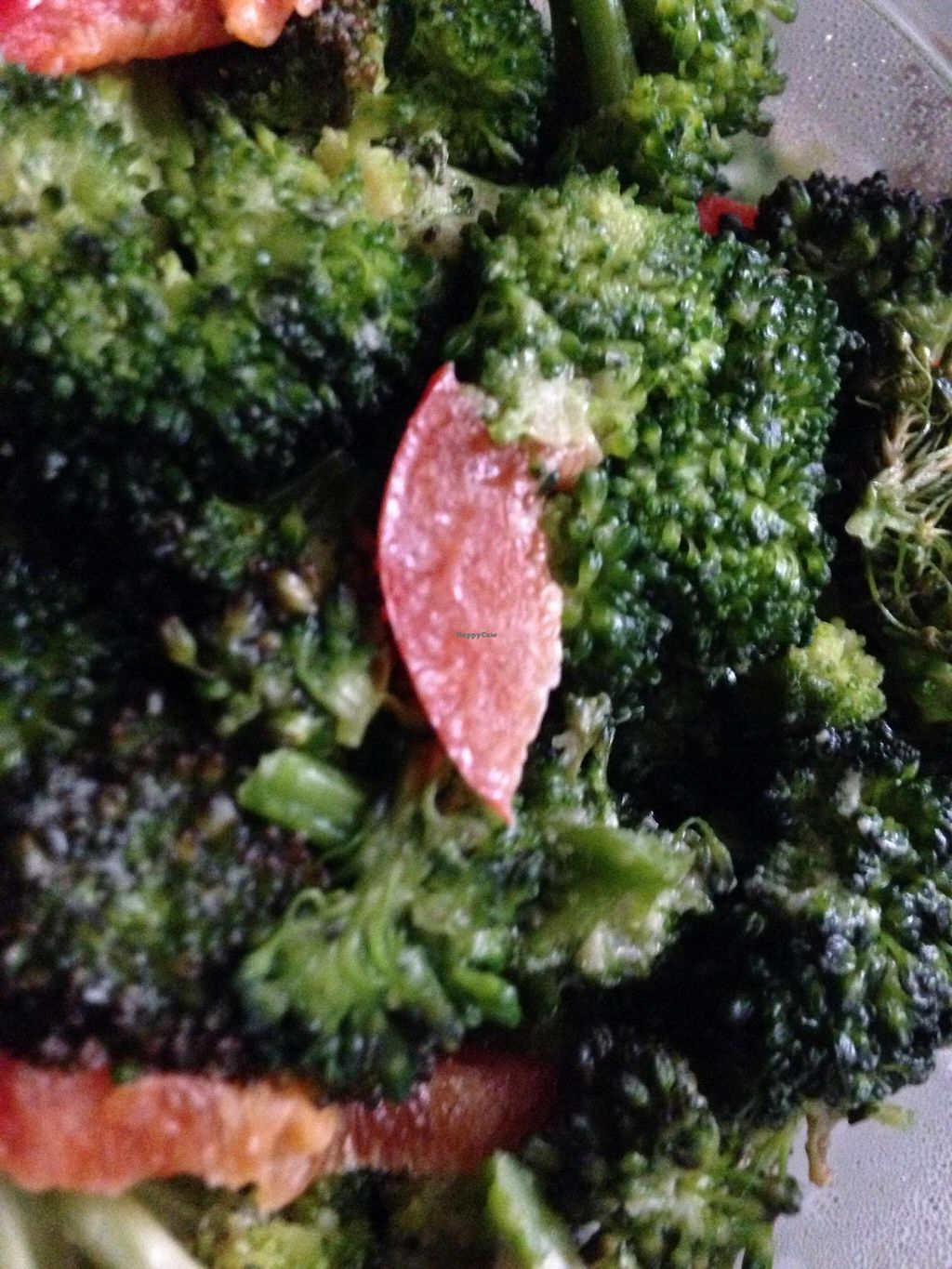 """Photo of Senbeb Cafe  by <a href=""""/members/profile/cookiem"""">cookiem</a> <br/>Raw broccoli and red pepper side order <br/> July 8, 2014  - <a href='/contact/abuse/image/13840/73563'>Report</a>"""