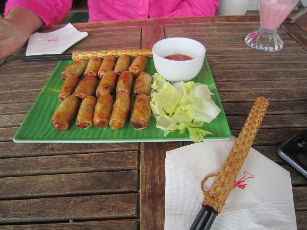 """Photo of V Cafe  by <a href=""""/members/profile/Amanda%20Panda"""">Amanda Panda</a> <br/>Spring Rolls <br/> September 24, 2015  - <a href='/contact/abuse/image/13904/118929'>Report</a>"""