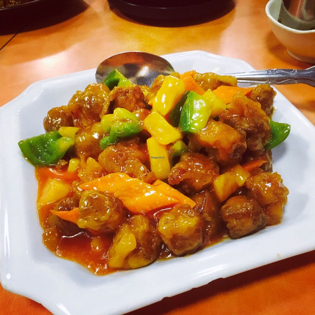"Photo of Happy Family  by <a href=""/members/profile/amymylove"">amymylove</a> <br/>sweet and sour pork - didn't care for the texture <br/> January 31, 2016  - <a href='/contact/abuse/image/13906/134410'>Report</a>"