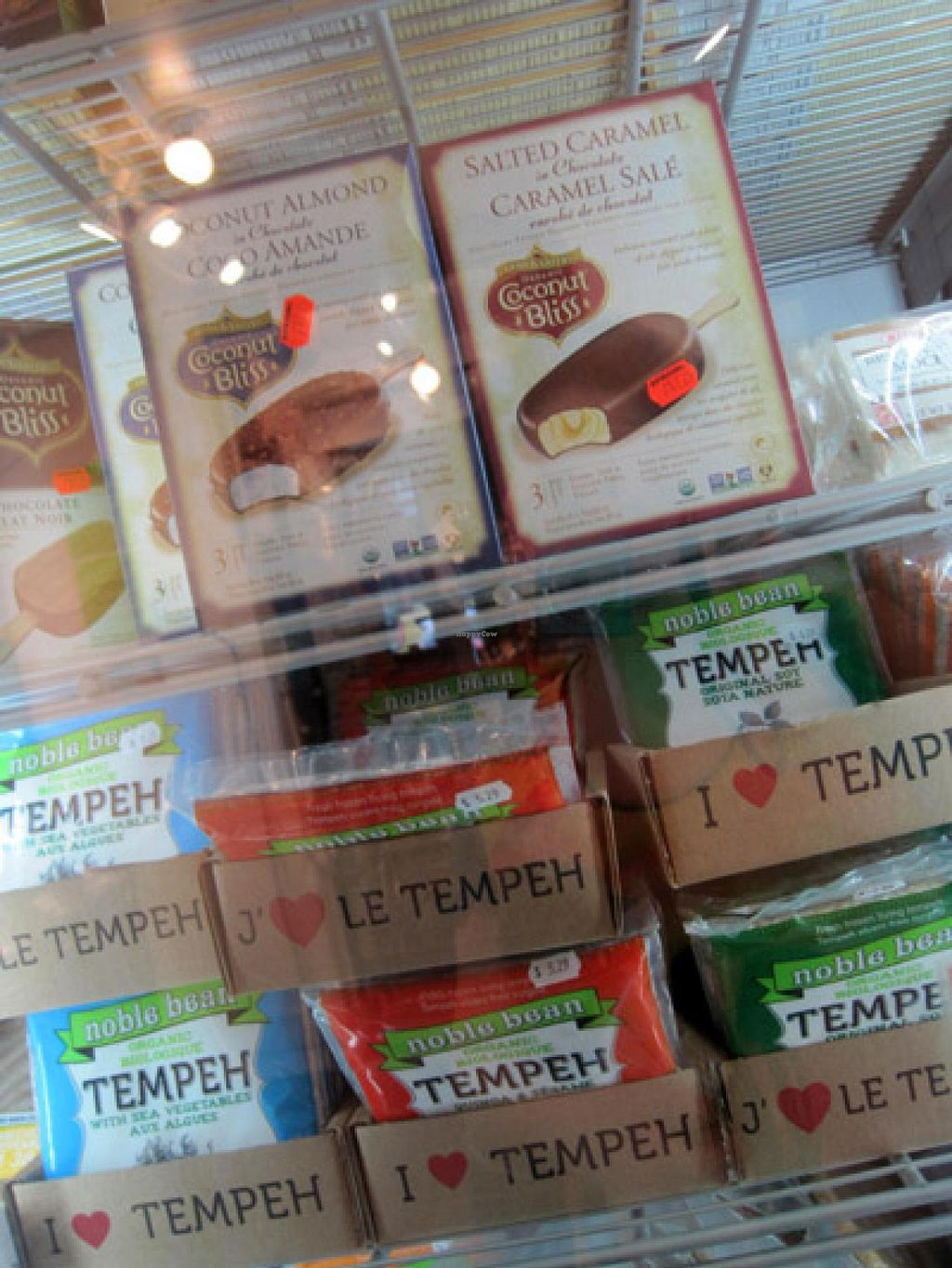"Photo of Le Crac and La Carotte Joyeuse  by <a href=""/members/profile/Babette"">Babette</a> <br/>Frozen treats and tempeh <br/> May 20, 2015  - <a href='/contact/abuse/image/1393/102876'>Report</a>"