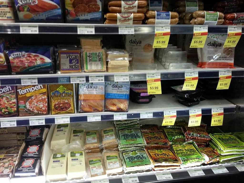 """Photo of Whole Foods Market - Robson  by <a href=""""/members/profile/eric"""">eric</a> <br/>vegan meats and vegan cheese <br/> July 28, 2014  - <a href='/contact/abuse/image/13957/75329'>Report</a>"""