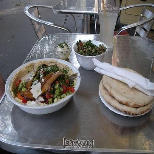 """Photo of Hummus Bar Vegetarian - Alkotmany  by <a href=""""/members/profile/weevil"""">weevil</a> <br/>Lunch at Hummus Bar <br/> October 2, 2009  - <a href='/contact/abuse/image/13992/2737'>Report</a>"""