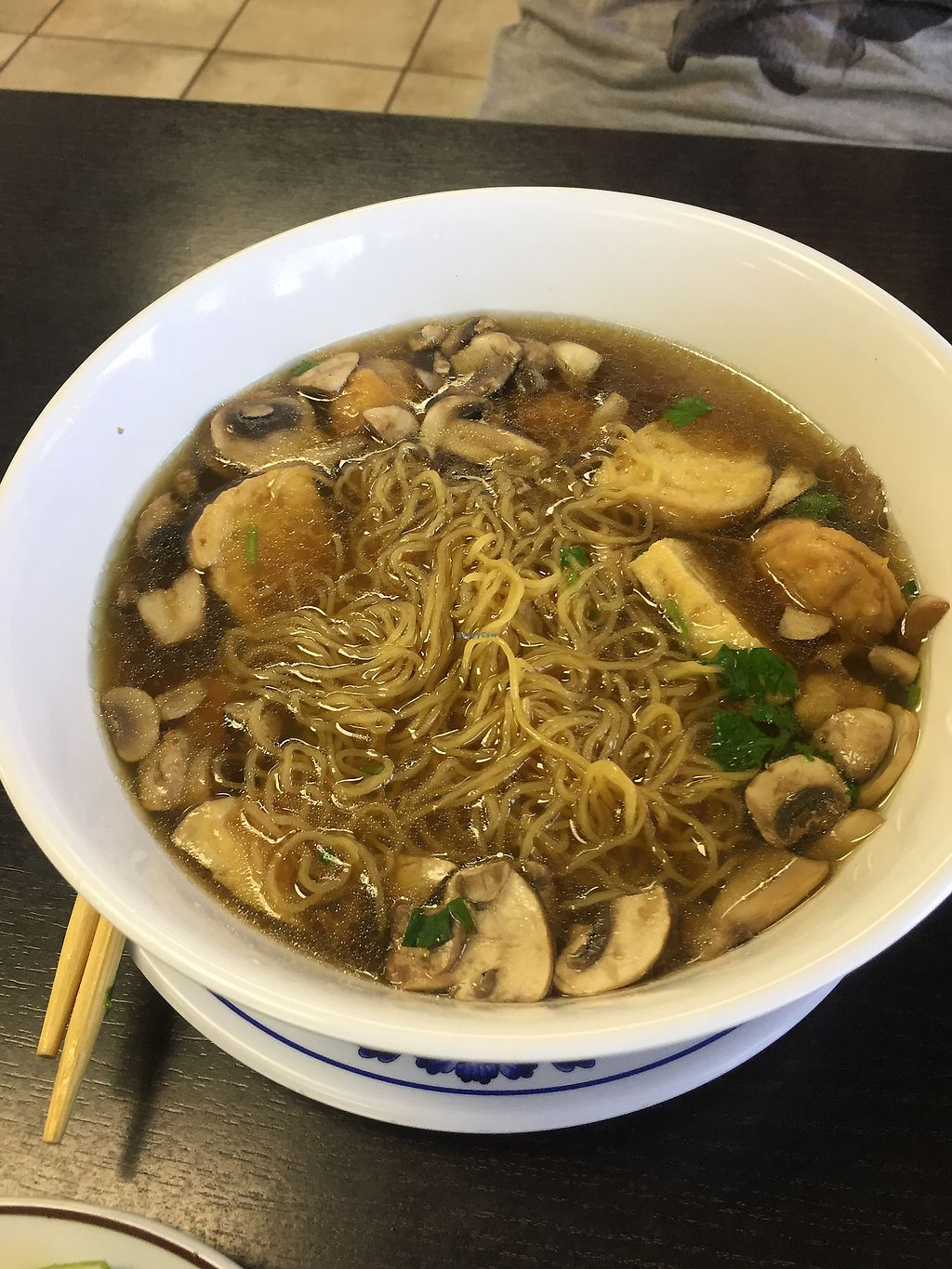 """Photo of Veggie Life Restaurant  by <a href=""""/members/profile/R-MV"""">R-MV</a> <br/>Yellow noodle wonton soup <br/> August 24, 2017  - <a href='/contact/abuse/image/14017/296866'>Report</a>"""