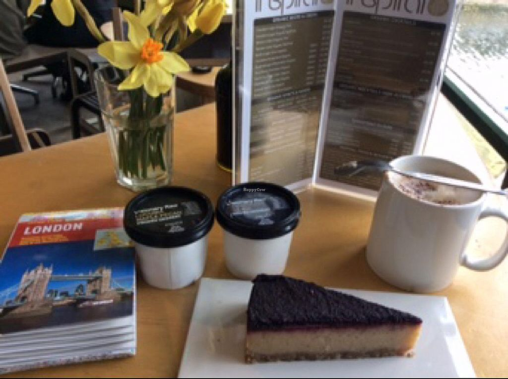 """Photo of CLOSED: InSpiral Lounge  by <a href=""""/members/profile/kosmopolitka"""">kosmopolitka</a> <br/>very good Vegan cheese cake and icecream <br/> January 21, 2015  - <a href='/contact/abuse/image/14026/90941'>Report</a>"""