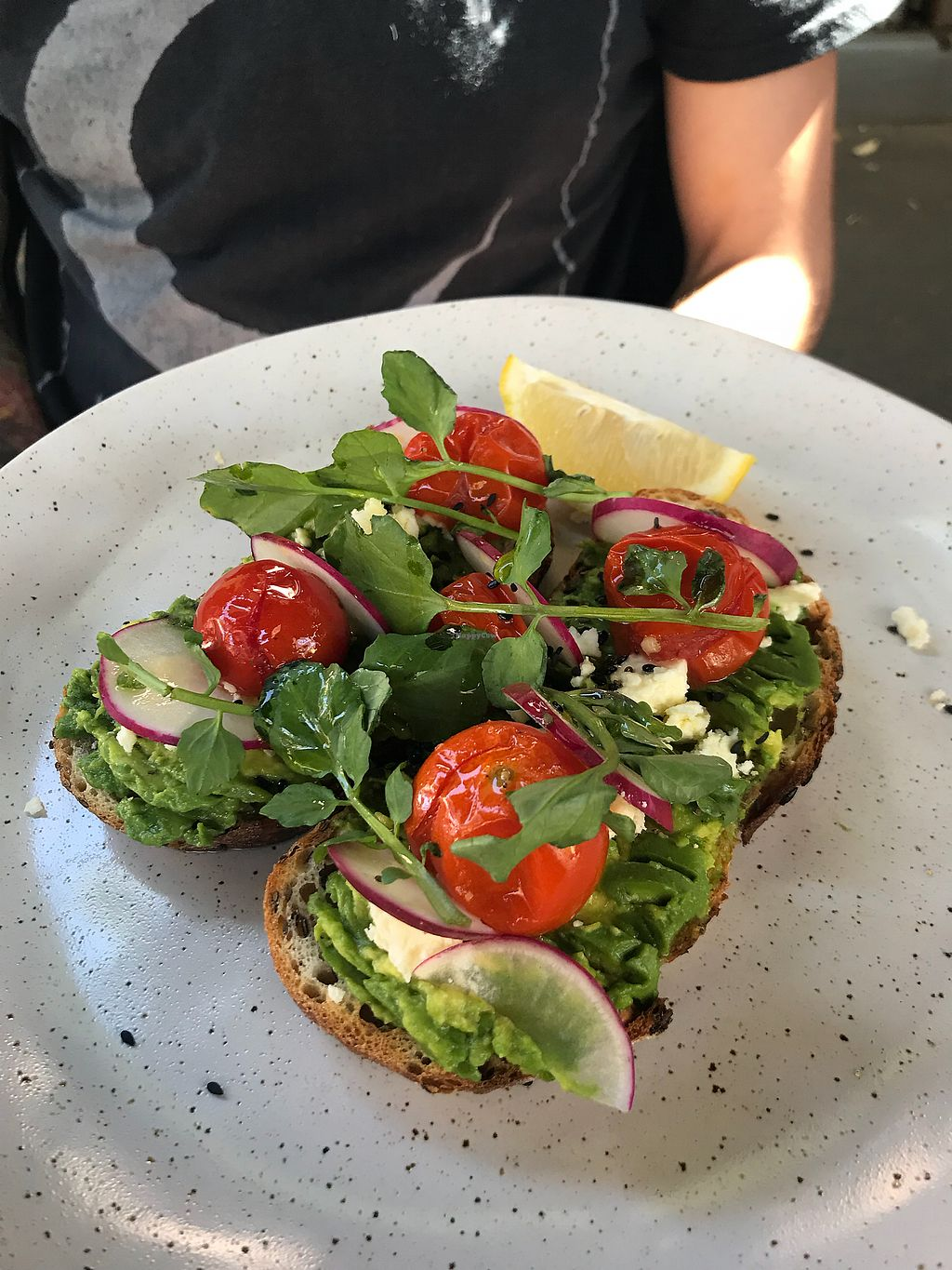 """Photo of Organic Produce Cafe  by <a href=""""/members/profile/LolaNachtigall"""">LolaNachtigall</a> <br/>Avo Feta Toast <br/> April 7, 2018  - <a href='/contact/abuse/image/14067/381902'>Report</a>"""
