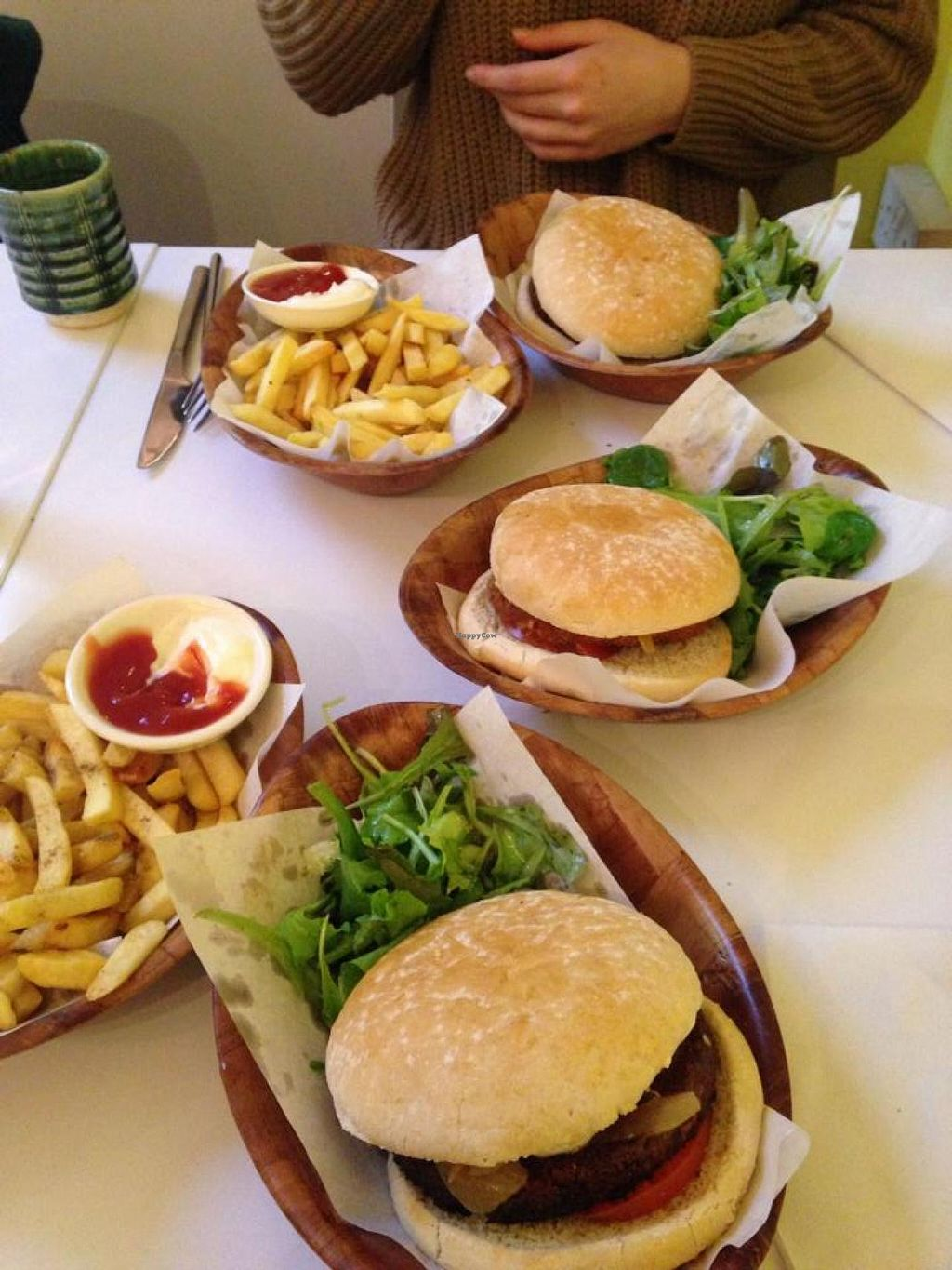 """Photo of Zen Buddha  by <a href=""""/members/profile/ColletteFarnol"""">ColletteFarnol</a> <br/>Burger and chips ( from loving hut camden- recently closed down) but loving hut edgware serve the burger and chips too! <br/> February 26, 2014  - <a href='/contact/abuse/image/14091/64855'>Report</a>"""