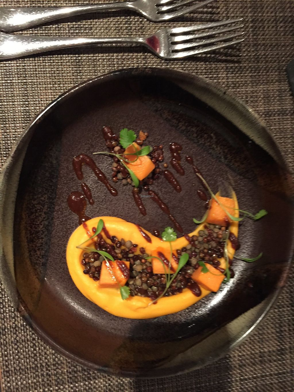 """Photo of Vanilla Black  by <a href=""""/members/profile/cowcowcow"""">cowcowcow</a> <br/>Squash and crispy lentils <br/> May 4, 2018  - <a href='/contact/abuse/image/14093/394923'>Report</a>"""