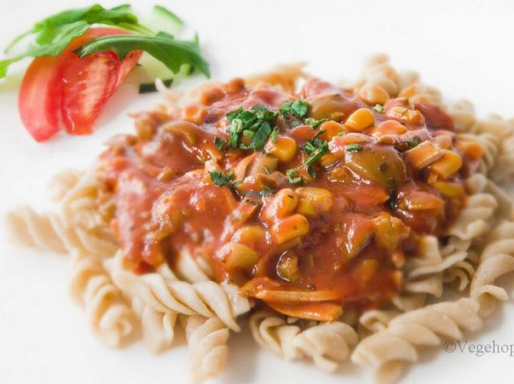 "Photo of Vegehop  by <a href=""/members/profile/Lynn555"">Lynn555</a> <br/>Spaghetti with smoked tofu in sauce <br/> October 10, 2016  - <a href='/contact/abuse/image/14107/181221'>Report</a>"