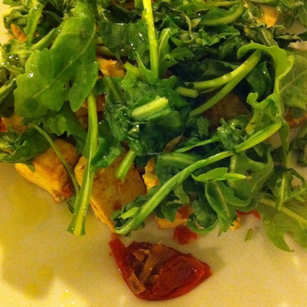 """Photo of Oh Mio Bio  by <a href=""""/members/profile/hokusai77"""">hokusai77</a> <br/>tofu with dried tomatoes and rocket <br/> September 6, 2015  - <a href='/contact/abuse/image/14143/116561'>Report</a>"""