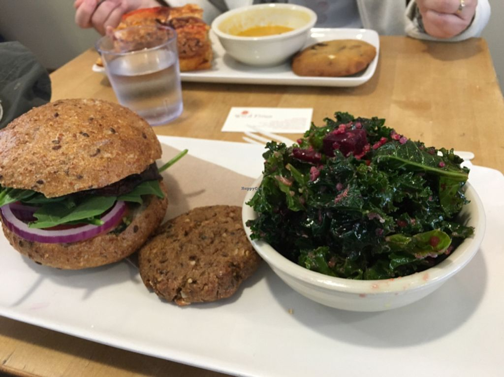 "Photo of Wild Flour  by <a href=""/members/profile/leont"">leont</a> <br/>Vegan Kale salad, vegan sandwich, vegan Fig cookie <br/> July 6, 2016  - <a href='/contact/abuse/image/14144/158052'>Report</a>"