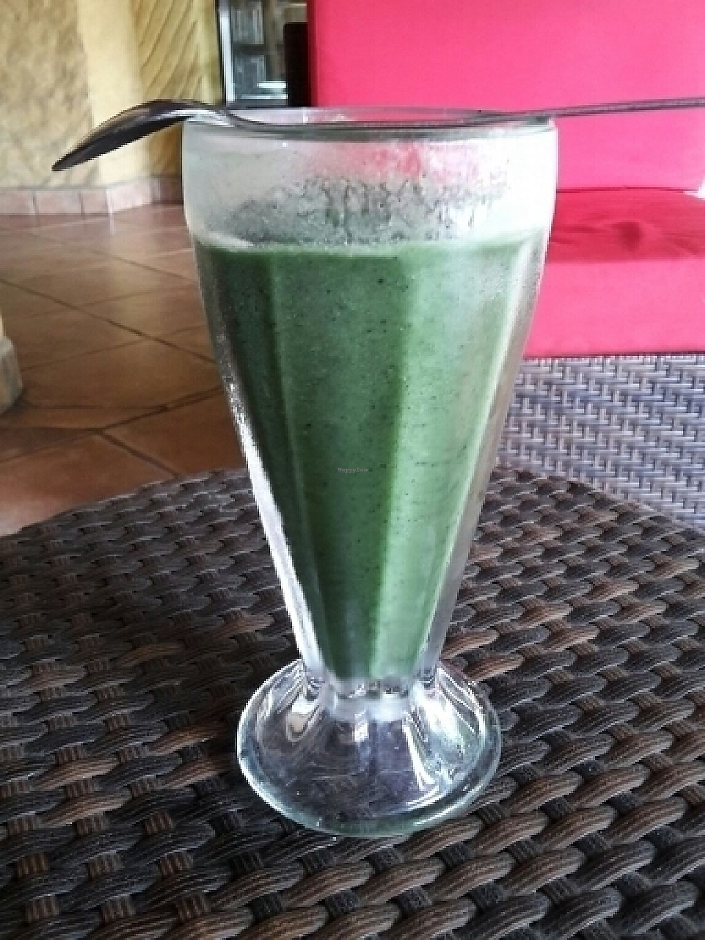 "Photo of El Sano Banano Restaurant  by <a href=""/members/profile/cocoholic"">cocoholic</a> <br/>green nectar smoothie with spirulina. Yum! <br/> June 2, 2017  - <a href='/contact/abuse/image/14170/265110'>Report</a>"