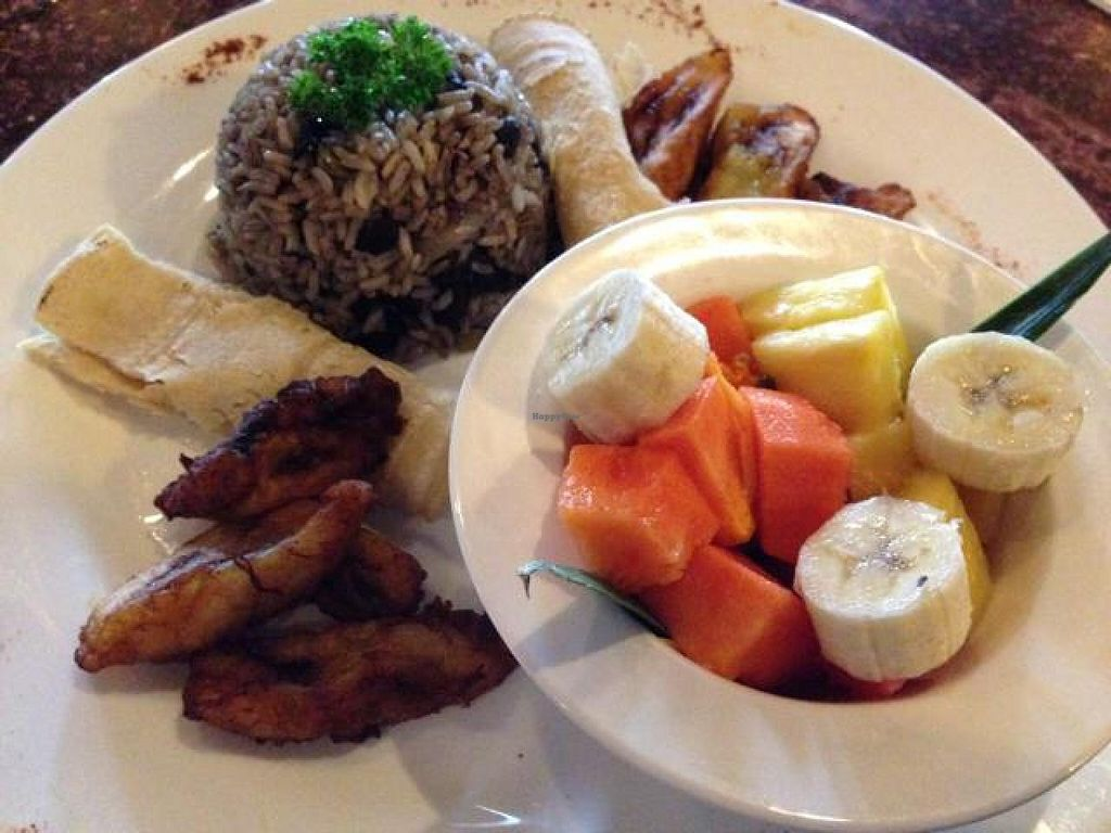 "Photo of El Sano Banano Restaurant  by <a href=""/members/profile/happycowgirl"">happycowgirl</a> <br/>Typical Costa Rican Breakfast w fruit instead of egg & cheese <br/> October 9, 2014  - <a href='/contact/abuse/image/14170/82429'>Report</a>"