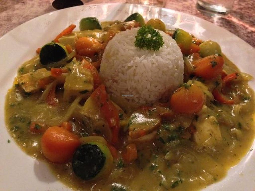 "Photo of El Sano Banano Restaurant  by <a href=""/members/profile/happycowgirl"">happycowgirl</a> <br/>Thai Curry With Tofu (vegan) <br/> October 9, 2014  - <a href='/contact/abuse/image/14170/82430'>Report</a>"