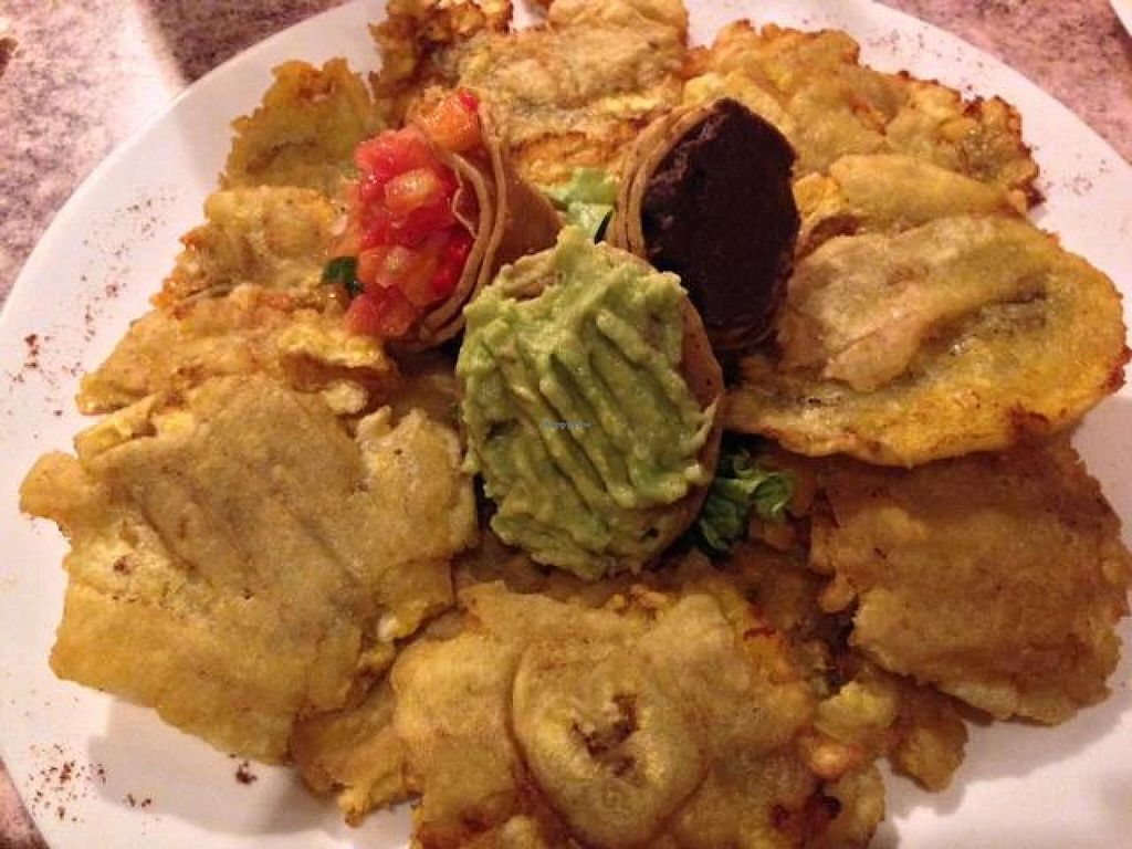 "Photo of El Sano Banano Restaurant  by <a href=""/members/profile/happycowgirl"">happycowgirl</a> <br/>Patacones (fried plantains) <br/> October 9, 2014  - <a href='/contact/abuse/image/14170/82431'>Report</a>"